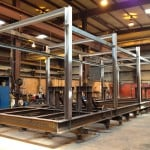 large fabricated gas processing plant frame