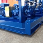 Offshore fabricated skid sub assembly