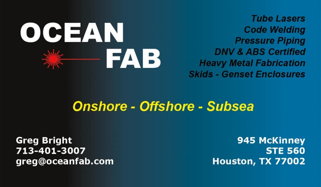 offshore subsea fabrication