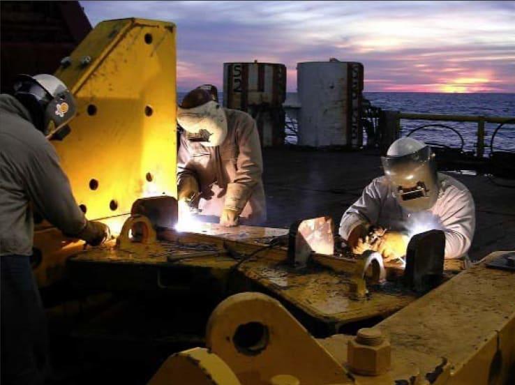 offshore welding topside