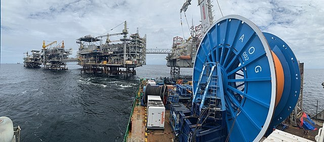 Offshore Oil Vessel Spool